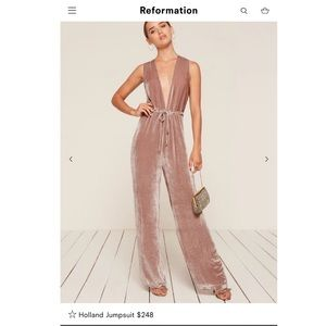 Reformation Holland Jumpsuit in Pink - NWT